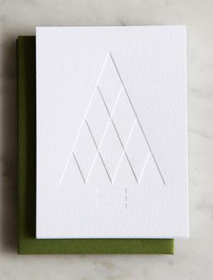 Triangle Tree Letterpress Card | Honey & Bloom