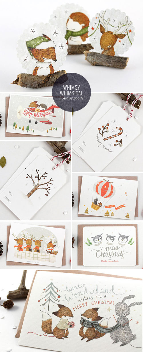 Whimsy Whimsical Holiday Paper Goods