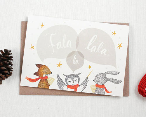 Fala Lala La Holiday Card | Whimsy Whimsical