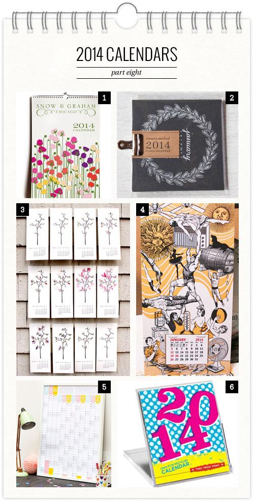 2014 Calendars, Part 8 as seen on papercrave.com