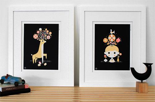 Black Bouquet Print Series | Tad Carpenter