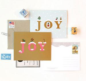 JOY Holiday Card   Clap Clap Design