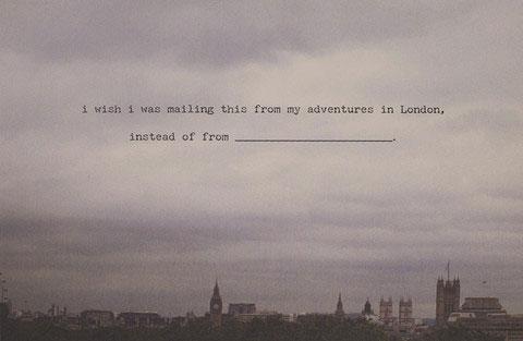 London Postcard | Dani Press