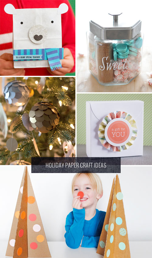 DIY Holiday Paper Craft Ideas as seen on papercrave.com