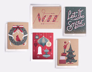 Vintage-Inspired Holiday Cards   Downtime Collective