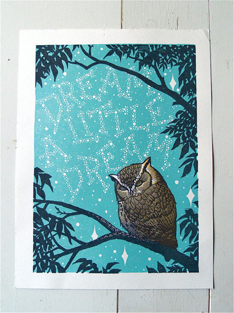 Dream a Little Dream Letterpress Print   Roll & Tumble Press