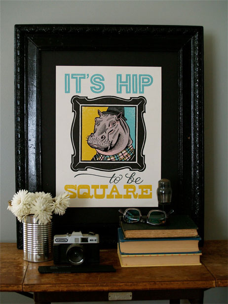It's Hip Letterpress Print | Roll & Tumble Press