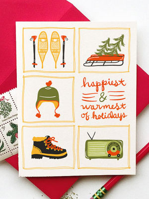 Happiest & Warmest Holiday Cards   Little Low Studio
