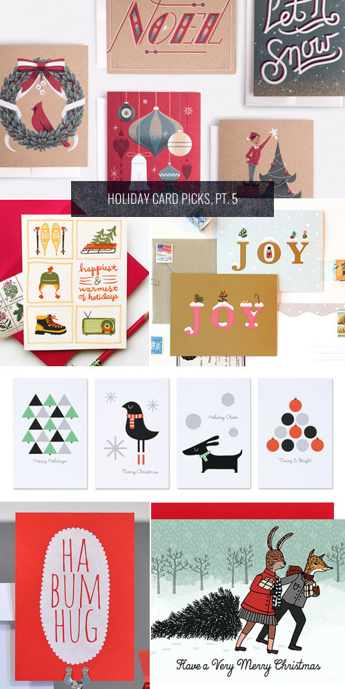 Holiday Card Picks, Pt. 5 as seen on papercrave.com