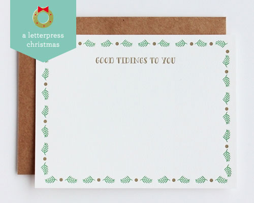 Good Tidings Letterpress Cards | Inclosed Studio