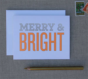 Merry & Bright Card | Mint Chip Ink