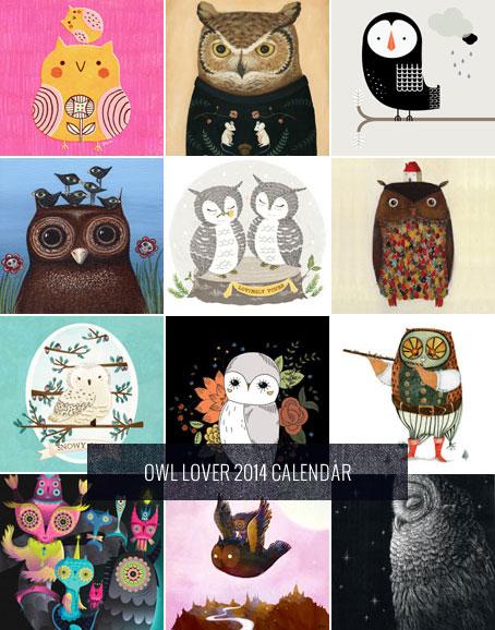 Free Printable 2014 Owl Lover Calendar | My Owl Barn