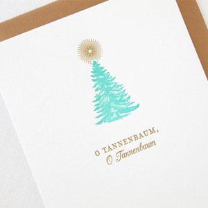 O Tannenbaum Letterpress Card | Missive
