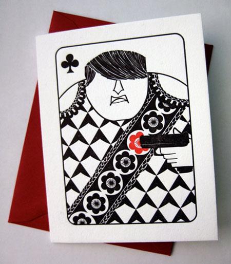 House Rules Jack of Clubs Letterpress Card   Banshee Press