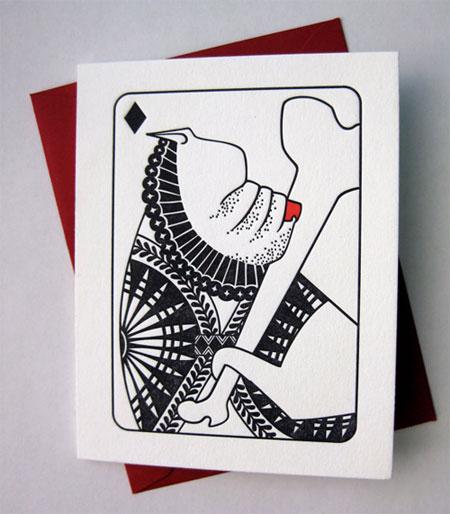 House Rules Joker Dog Letterpress Card   Banshee Press