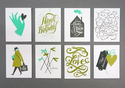 Letterpress Greeting Cards | Karolin Schnoor (printing by Bison Bookbinding & Letterpress)