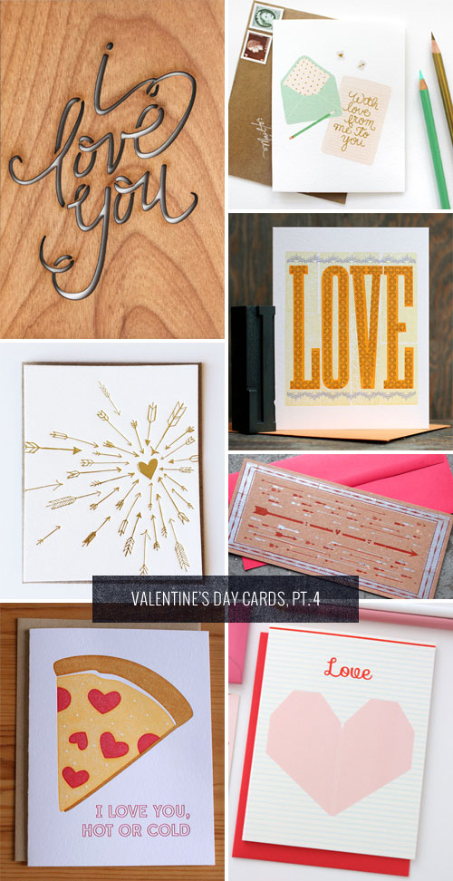 Love-Themed Valentine's Day Cards as seen on papercrave.com