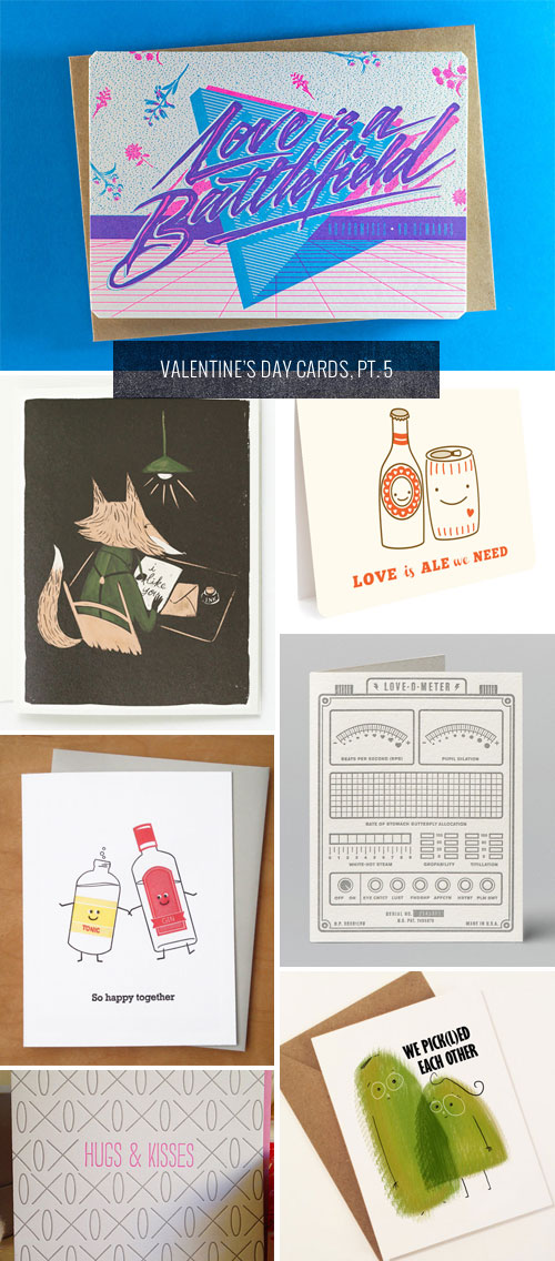 Valentine's Day Cards, Pt. 5 as seen on papercrave.com