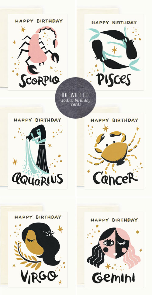 Zodiac Birthday Cards | Idlewild Co.