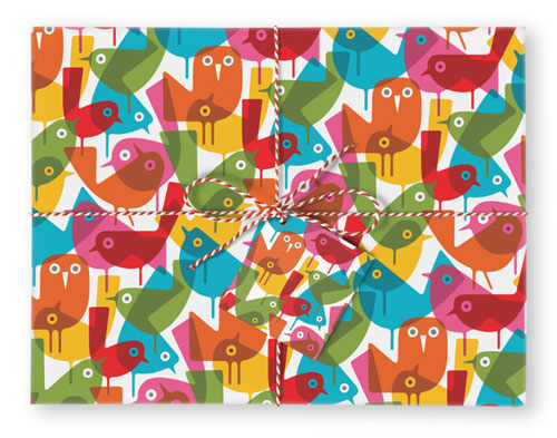 Jolly Early Birds Gift Wrap | Imaginary Press