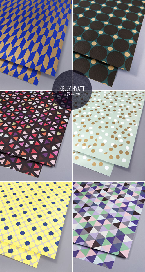 Bold, Modern Gift Wrap | Kelly Hyatt for Lagom