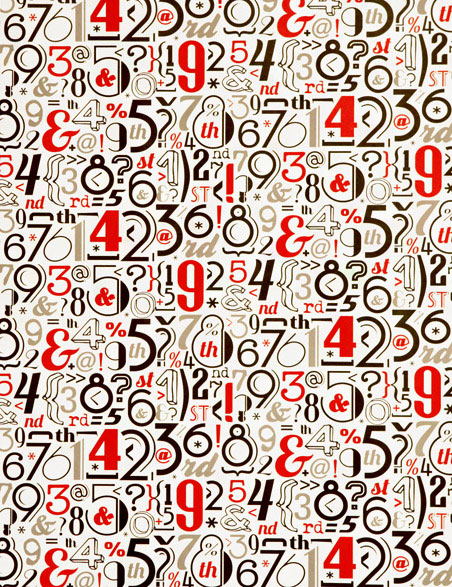 Vintage Numbers Gift Wrap | Rossi