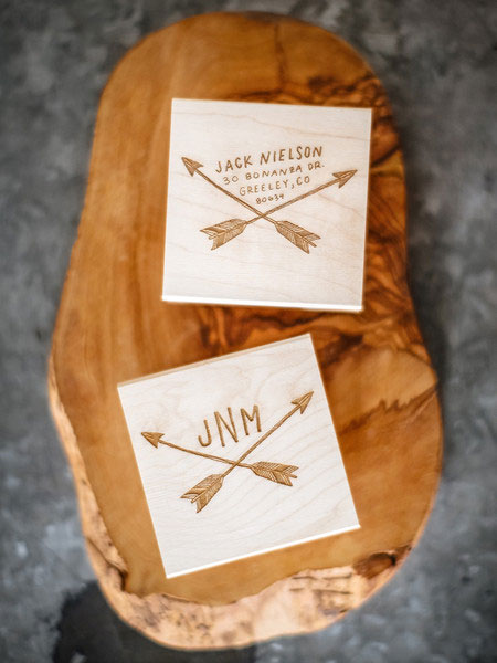 Hand Drawn Custom Monogram and Return Address Stamps | Sycamore Street Press