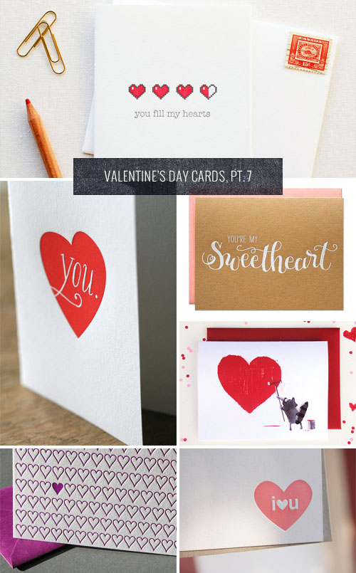 Heart-Themed Valentine's Day Cards as seen on papercrave.com