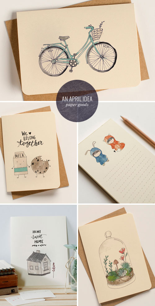 Illustrated and Hand Lettered Paper Goods | An April Idea