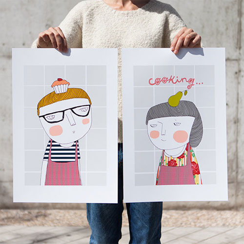 Cooking Art Prints | Depeapa