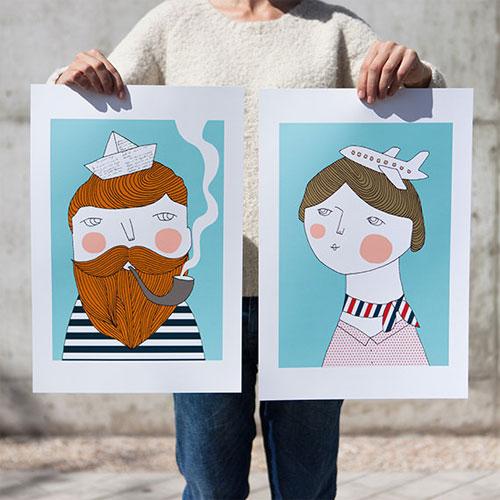 Bon Voyage Art Prints | Depeapa