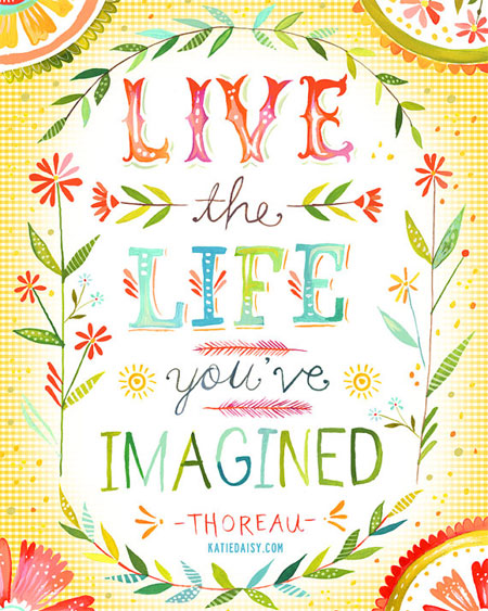 Live the Life You've Imagined Print | The Wheatfield by Katie Daisy