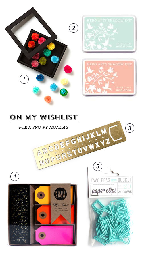 On My Wishlist : For a Snowy Monday as seen on papercrave.com