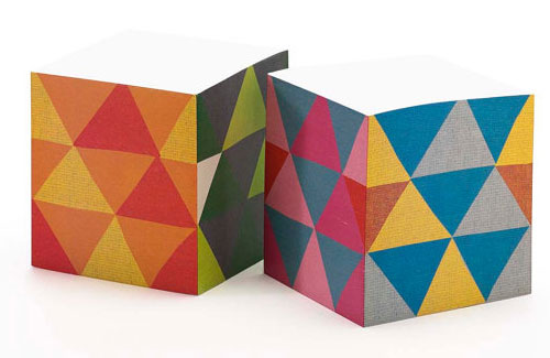 Triangles Sticky Note Cube | Ilee