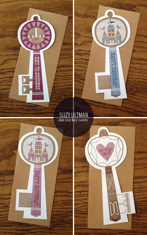 Die Cut Letterpress Key Cards | Suzy Ultman (designer) & Igloo Letterpress (printer)