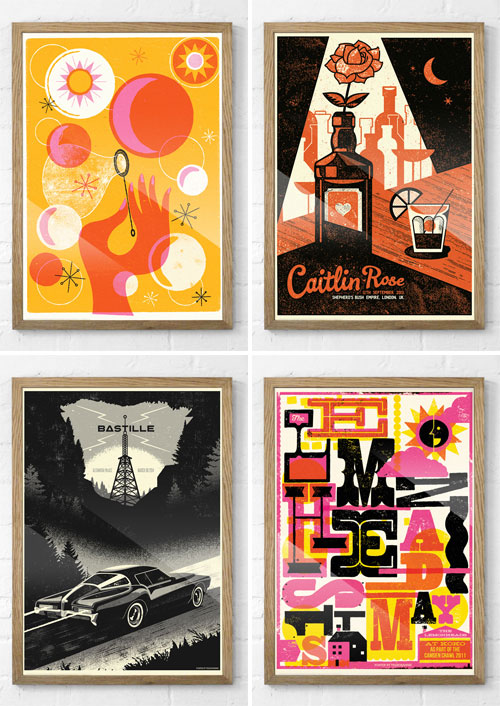 Retro Modern Gig Posters and Art Prints | Telegramme Studio