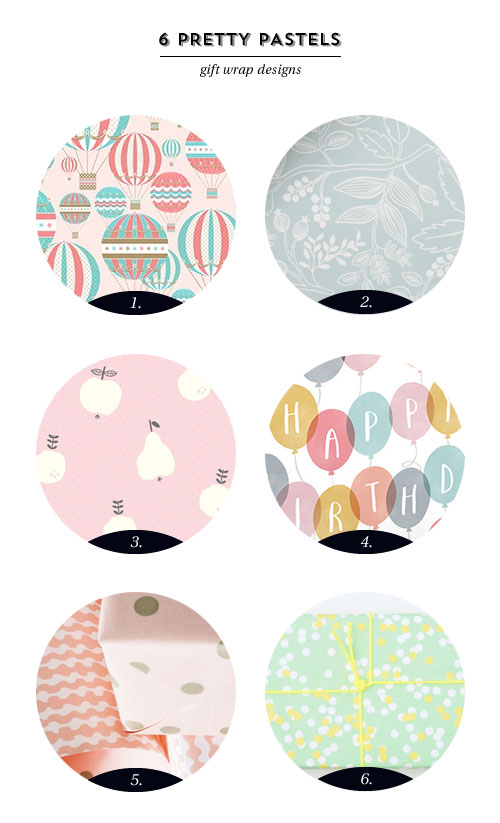 6 Pretty Pastel Gift Wrap Designs as seen on papercrave.com