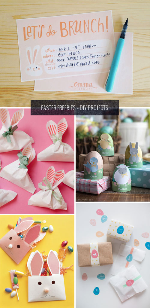Easter Freebies + DIY Projects as seen on papercrave.com