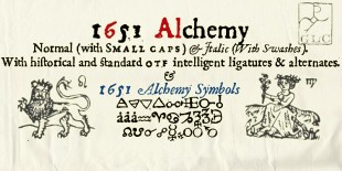 1651 Alchemy Font by GLC