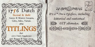 1756 Dutch Font by GLC