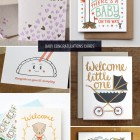 6 Sweet Baby Congratulations Cards as seen on papercrave.com