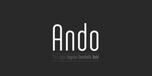 Ando Font by Joel Carrouche