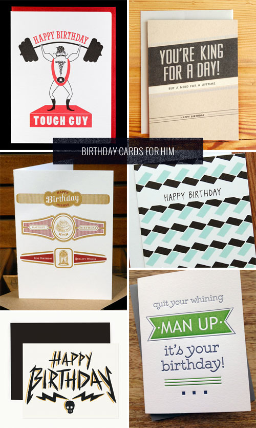 Birthday Cards for Him as seen on papercrave.com