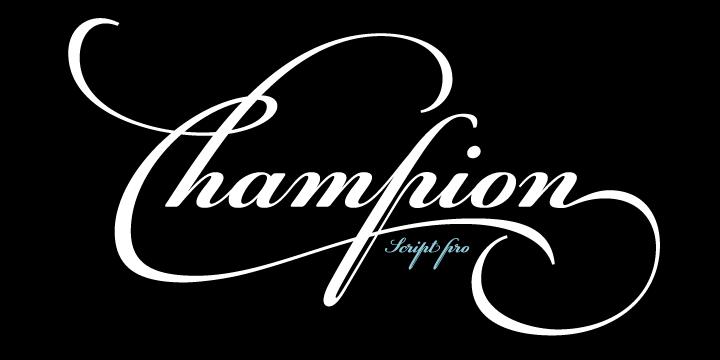 Champion Script Font