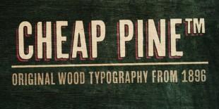Cheap Pine Font by Hannes von Dohren