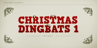 Christmas Dingbats Font by Hannes von Dohren