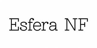 Esfera NF Font by Nick's Fonts