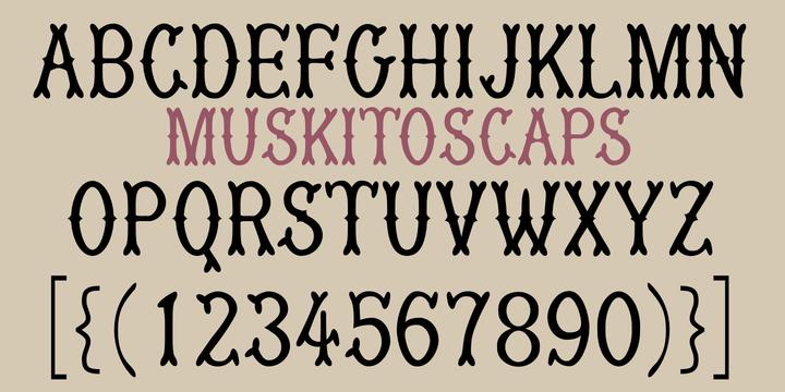 MuskitoCaps Font by Robert Schenk