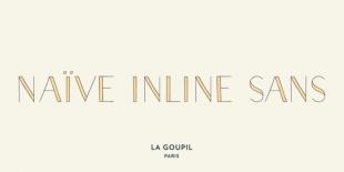 Naive Inline Sans Font by La Goupil
