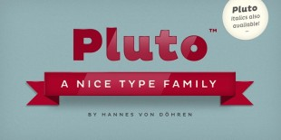Pluto Font by Hannes von Dohren